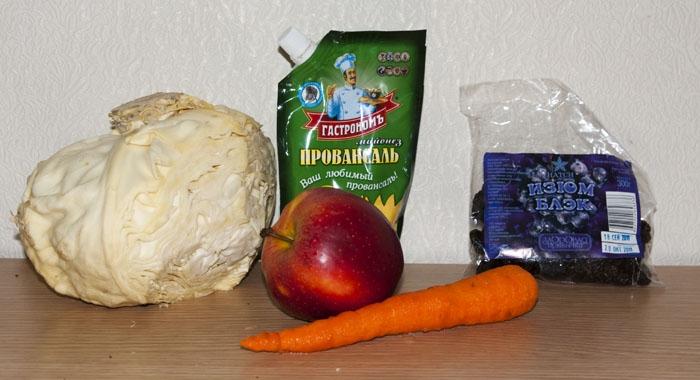 Ингредиенты для сладкого салата