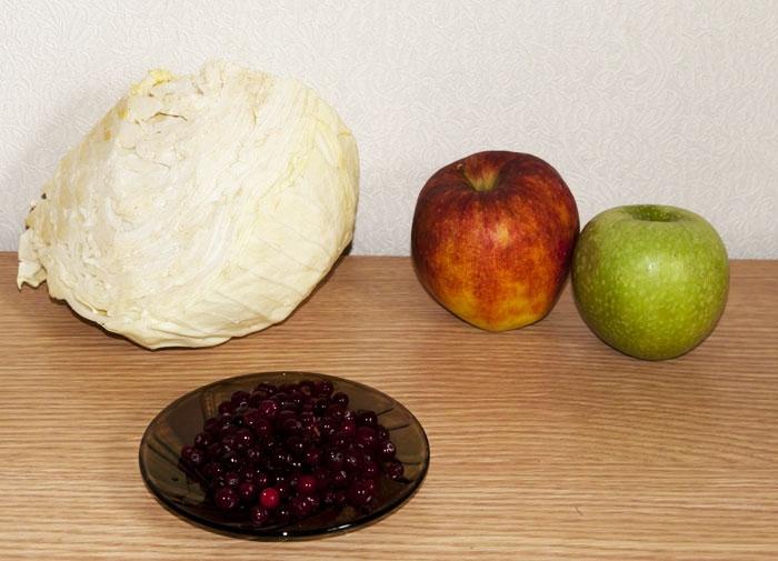 капуста яблоко и клюква